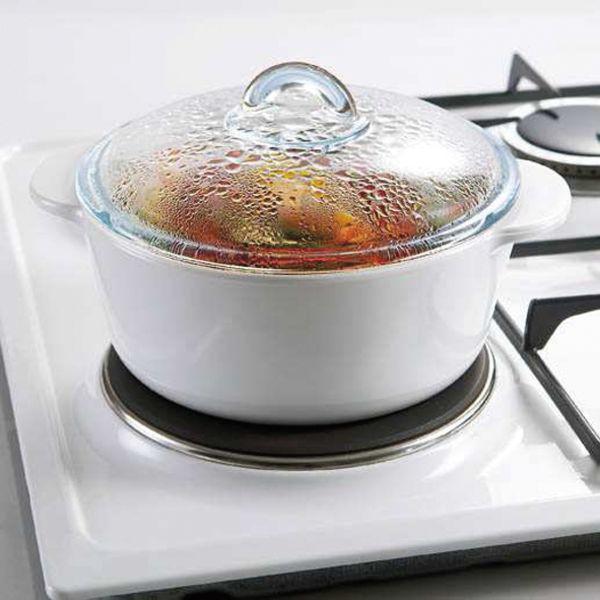 pyroflam kasserolle rund mit deckel inhalt 1 00 liter. Black Bedroom Furniture Sets. Home Design Ideas
