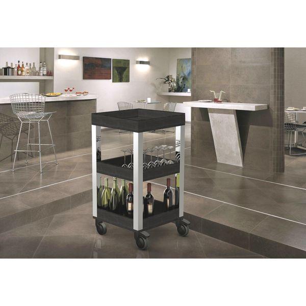 pintinox smart servierwagen mit 2 borden und schublade. Black Bedroom Furniture Sets. Home Design Ideas
